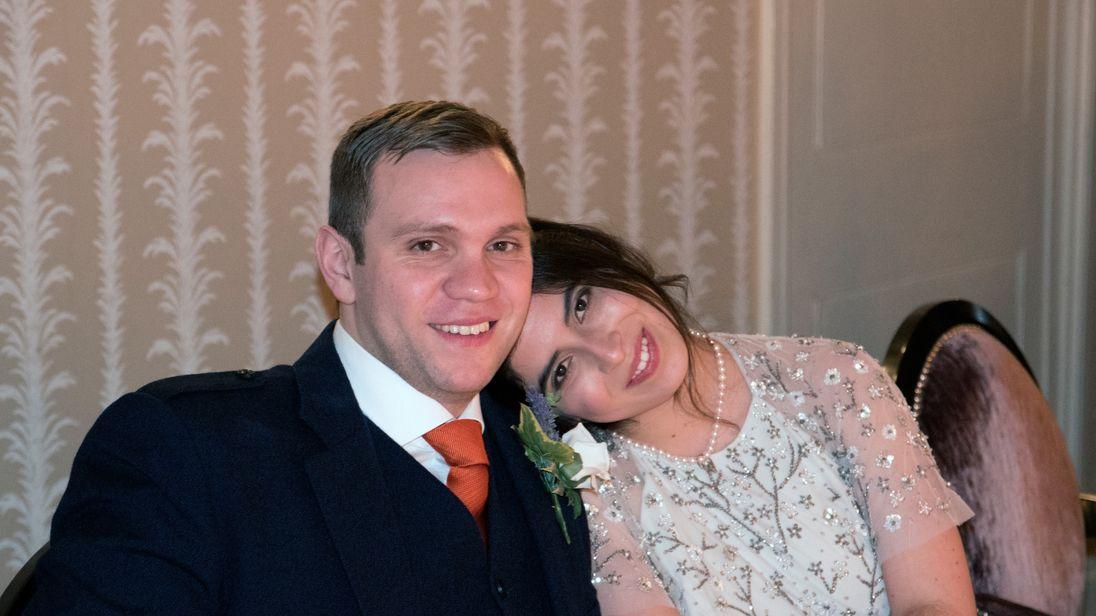 Matthew Hedges and his wife Daniela Tejada