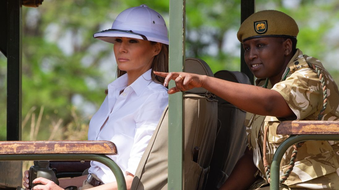Melania Trump responds to criticism about wearing a 'colonial' hat in Africa