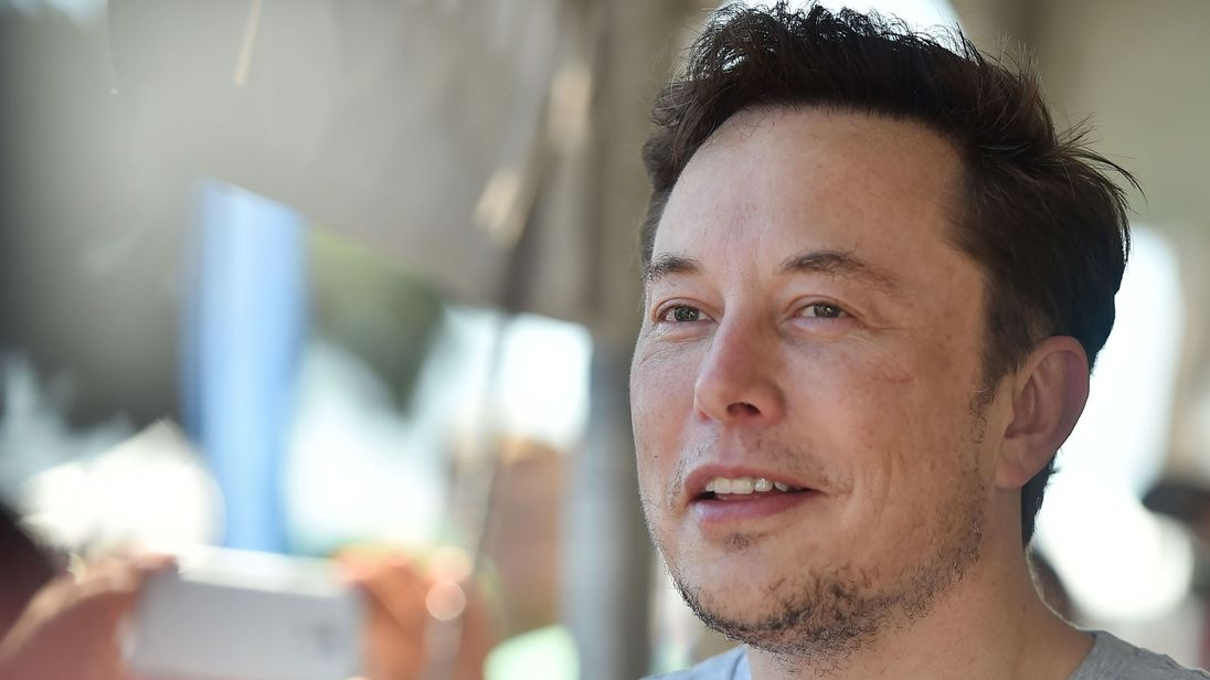 SpaceX, Tesla and The Boring Company founder Elon Musk attends the 2018 SpaceX Hyperloop Pod Competition, in Hawthorne, California on July 22, 2018. - Students from colleges and universities from the US and around the world are taking part in testing their pods on a 1.25 kilometer-long (0.75-mile) tubular test track at the SpaceX headquarters