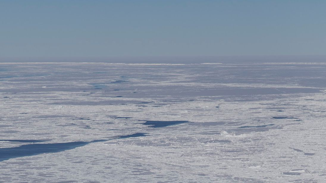 Iceberg photo captured by NASA