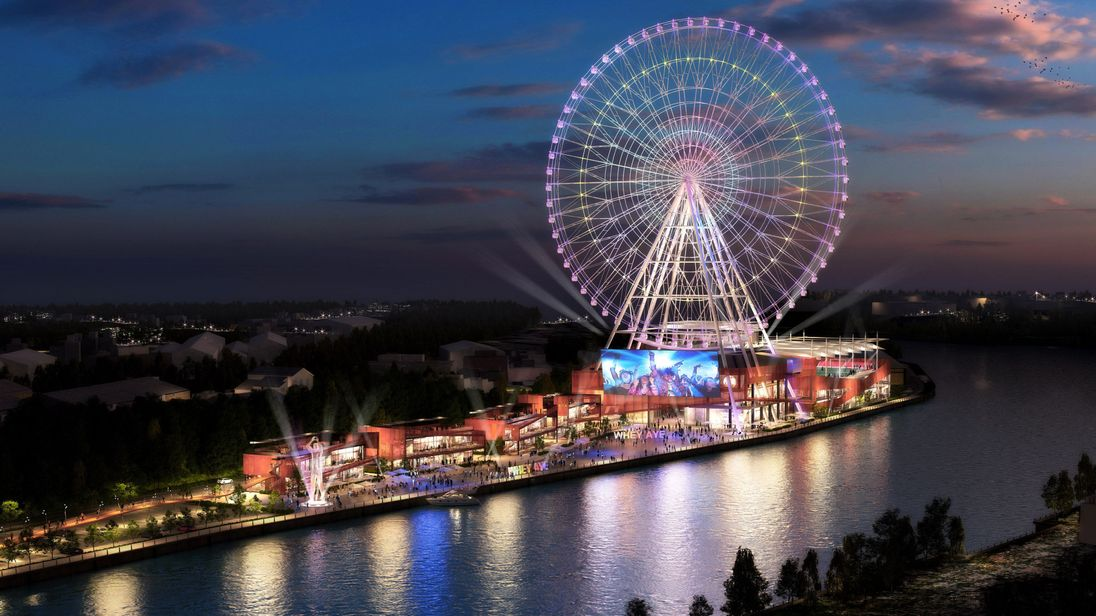 move over london eye images of newcastle s whey aye wheel revealed