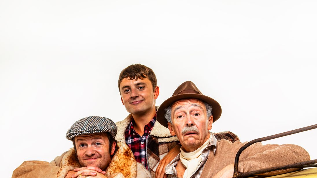 Tom Bennett, Ryan Hutton and Paul Whitehouse as Del Boy, Rodney and Grandad in the new Only Fools and Horses musical