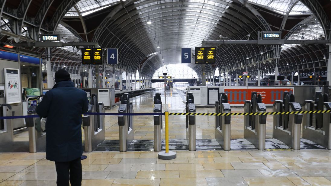 London Paddington station's train services return to near-normal