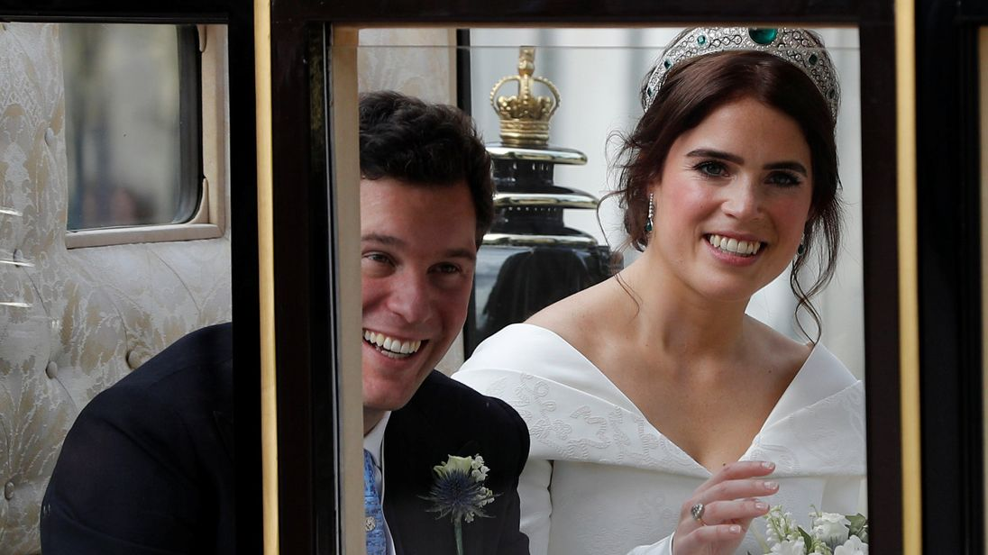 Mia Tindall grabs the spotlight in Princess Eugenie's wedding photos