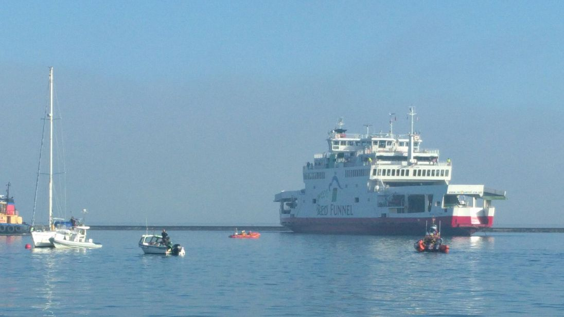 Investigations Underway Following Isle Of Wight Red Funnel Ferry Collision
