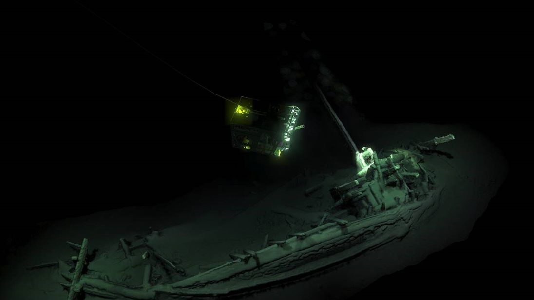 Oldest intact shipwreck found 2 km down in Black Sea, scientists say