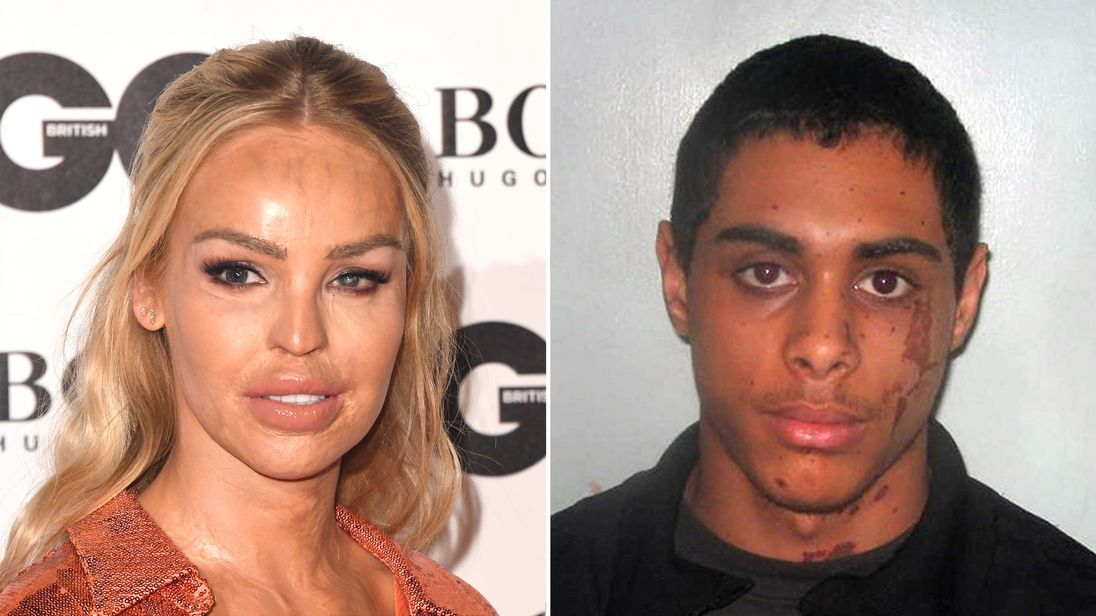Katie Piper and her attacker Stefan Sylvestre