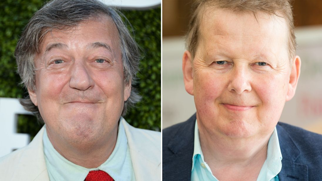 Stephen Fry and Bill Turnbull