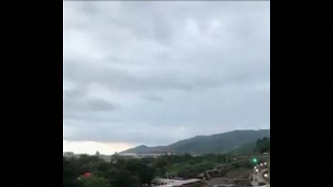 Several carriages flipped during the accident in Yilan County