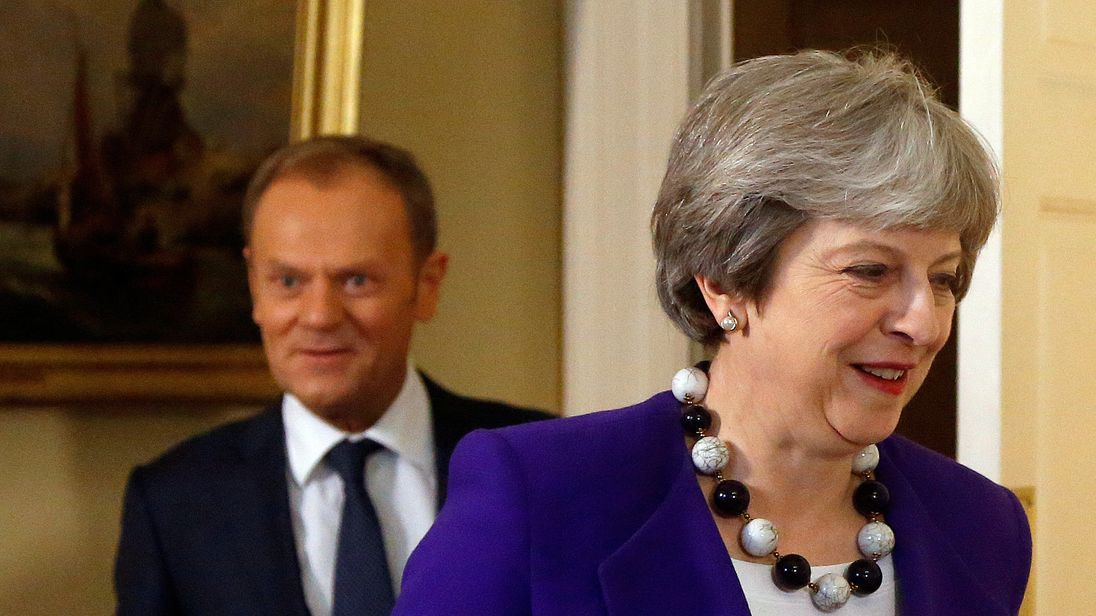 PM Theresa May presses European Union on Brexit but offers no new plans