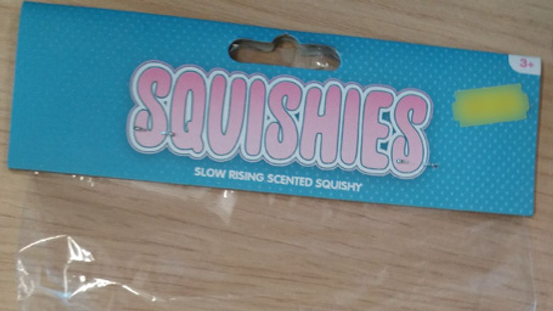 The squishy toy is said to pose a risk of choking and suffocation