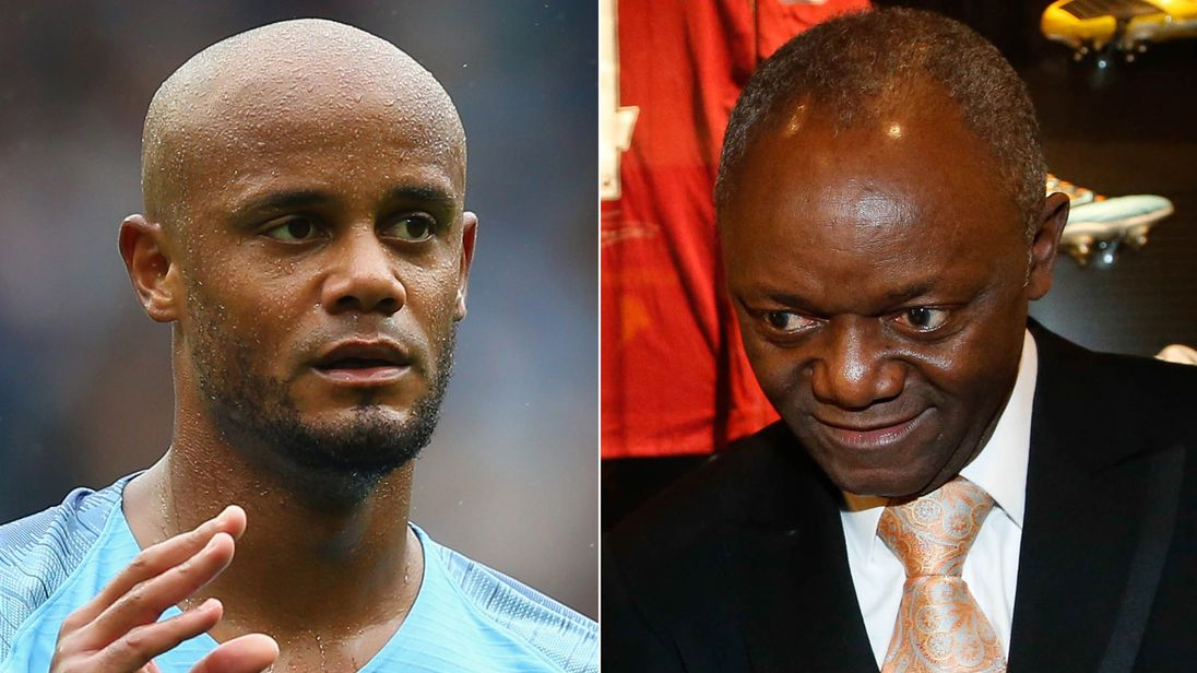 Vincent Kompany and his father Pierre