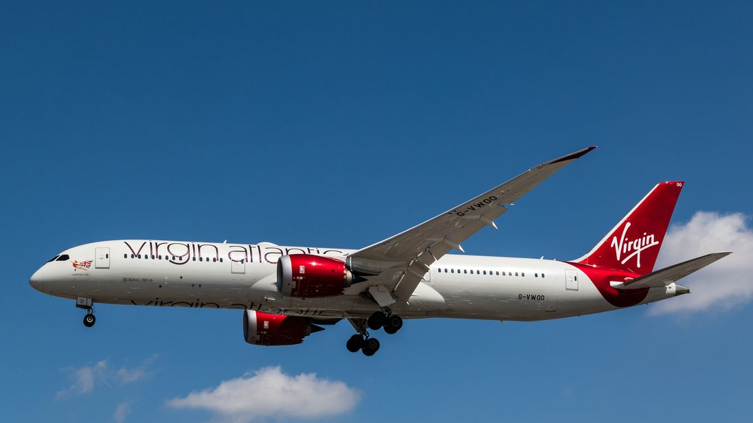 The Virgin Atlantic Dreamline plane was carrying up to 264 passengers. File pic
