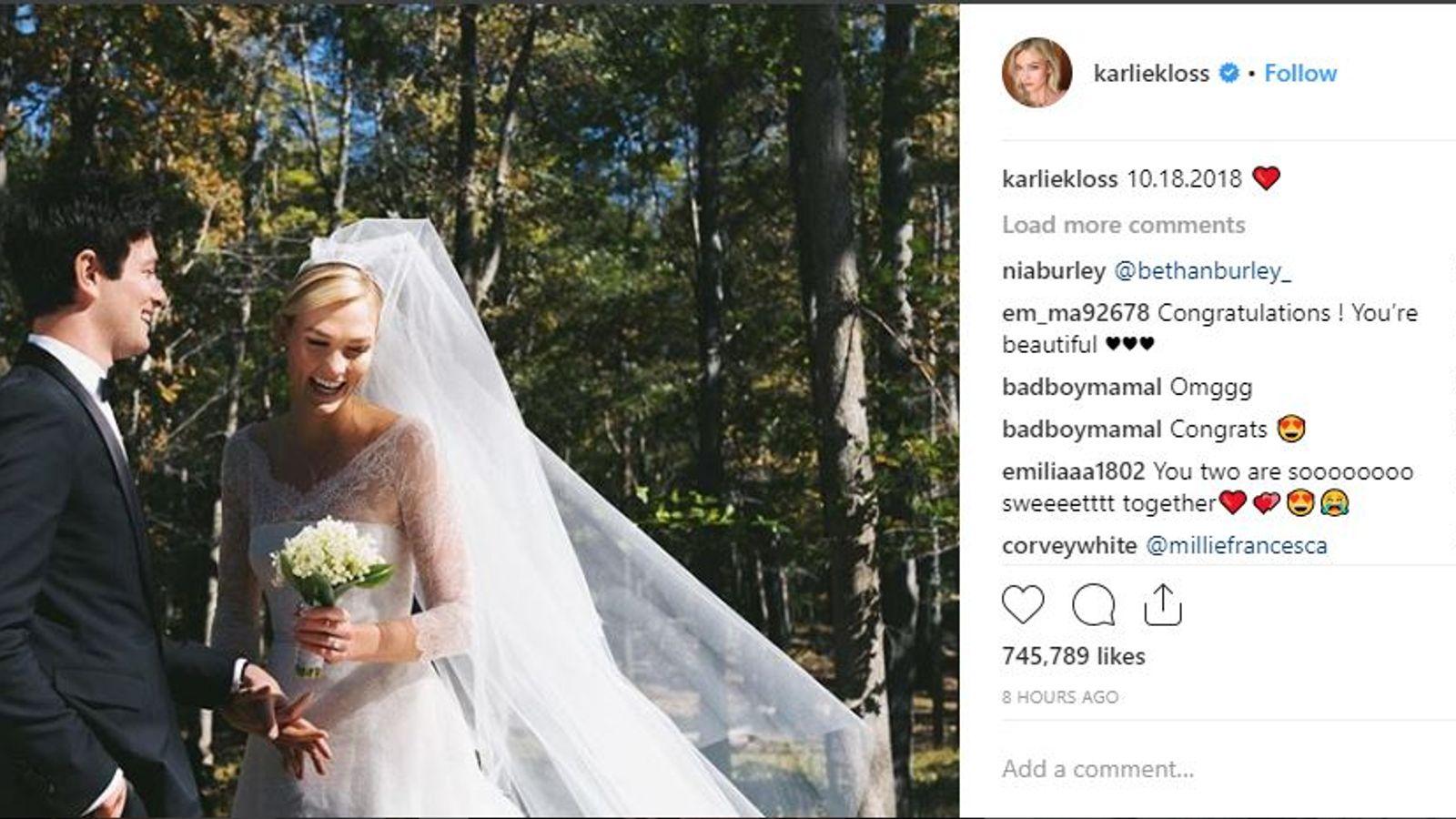 Supermodel Karlie Kloss weds Joshua Kushner