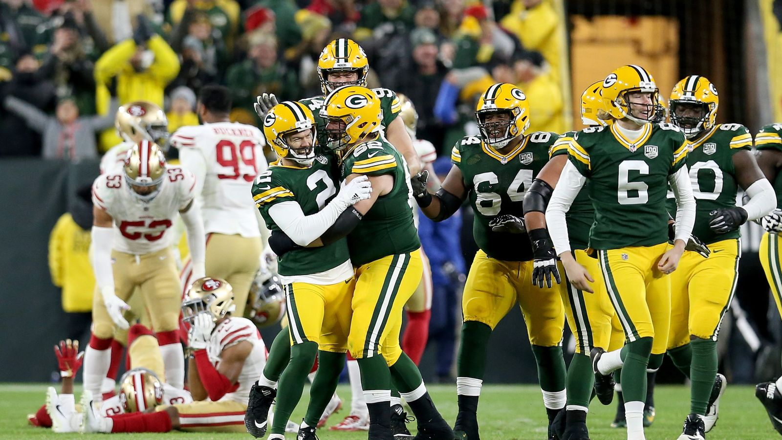 97864a5022e San Francisco 49ers 30-33 Green Bay Packers  Mason Crosby kicks game-winner  as time expires