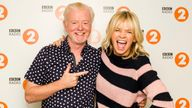 Radio 2 Breakfast Show host Chris Evans with his replacement Zoe Ball, who will take over hosting when Evans departs the show later this year