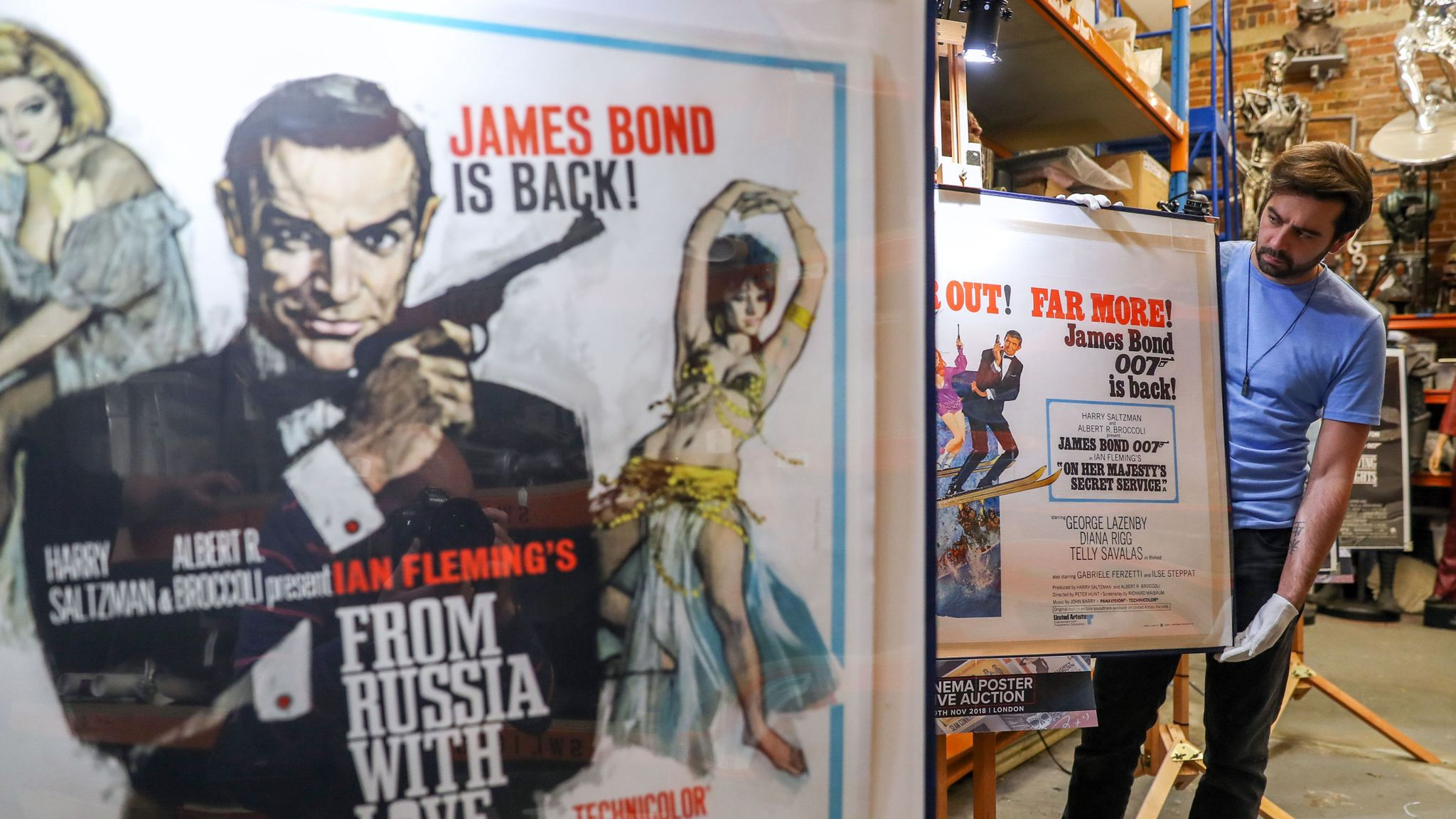 Rare James Bond Movie Posters Could Fetch Up To 28 000 At Auction Ents Arts News Sky News