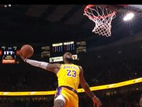 Lebron James was in typically thrilling for on his LA Lakers debut