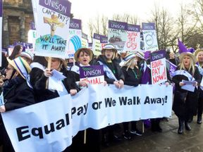 Council workers march for equal pay