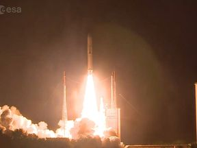 Liftoff of #Ariane5 with the #BepiColombo spacecraft!. Pic: ESA
