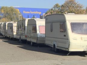 Lines of cars and caravans where people sleep are particularly prevalent in Bristol