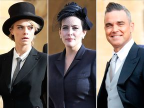 Cara Delevingne, Liv Tyler and Robbie Williams