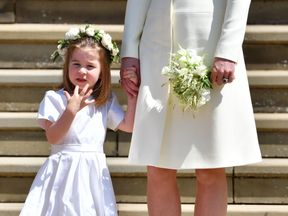 Princess Charlotte had a starring role in the wedding of Harry and Meghan earlier this year