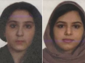 Tala & Rotana Farea—whose bodies were found on Oct 24 at the edge of the Hudson River in Manhattan. Pic: NYPD