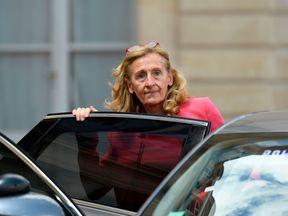 French Justice minister Nicole Belloubet leaves after a weekly cabinet meeting on July 18, 2018 at the Elysee palace in Paris. (Photo by Bertrand GUAY / AFP) (Photo credit should read BERTRAND GUAY/AFP/Getty Images)