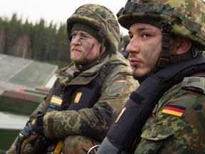 As part of Exercise Trident Juncture, German soldiers from 2 Company Multinational Engineer Battalion of NATO. Pic: Capt Kylee Ashton