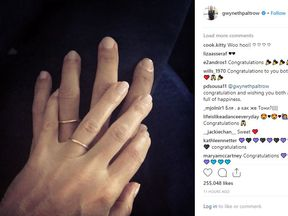 Gwyneth Paltrow posted this picture of two wedding rings following reports she has married Brad Falchuk. Pic: @gwynethpaltrow/ Instagram