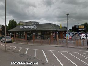 The brawl happened outside McDonald's on the High Street in Hadleigh