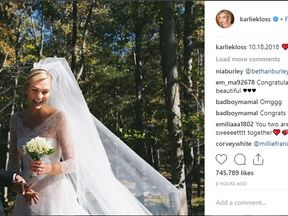 Karlie Kloss posts Instagram picture confirming she has married Joshua Kushner. Pic: @karliekloss/Instagram