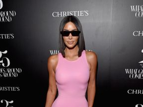 Kim Kardashian West attends Christie's x What Goes Around Comes Around 25th anniversary auction preview in LA