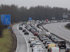 The crash took place on the M40 on Monday. File pic