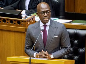 South Africa's home affairs minister said his phone was hacked