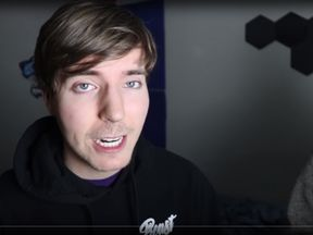 MrBeast has almost nine million subscribers on YouTube. Pic: YouTube