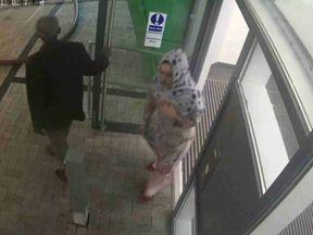CCTV shows Nadia Jafari leaving the tower