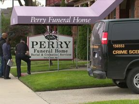 The director of Perry Funeral Home has had his license suspended