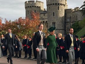 Pippa arrived with her husband and James Middleton. Pic: Emma Wilson