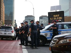 Police on patrol in New York City