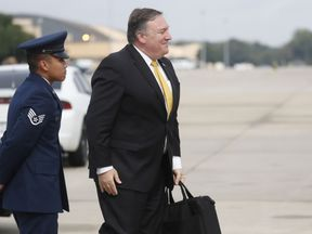 Mike Pompeo leaves the US for Riyadh to discuss the Khashoggi case