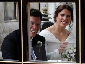 Princess Eugenie and Jack Brooksbank leave the St George's Chapel