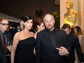 Sarah Silverman and Louis CK attend the 88th Annual Academy Awards Governors Ball at The Hollywood & Highland Center in Hollywood, California, on February 28, 2016