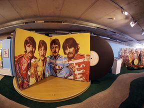 Sgt Pepper's Lonely Hearts Club Band room at the Beatlemania exhibition on May 28, 2009 in Hamburg, Germany