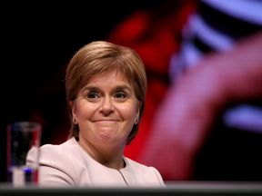 Nicola Sturgeon says an independent Scotland would be a beacon for progressive values