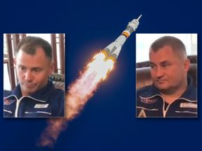 Astronaut Nick Hague and cosmonaut Alexey Ovchinin