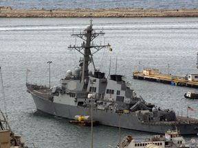 US Navy war ship USS Decatur was conducting a freedom of navigation operation. File pic