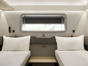 The beds can be pushed together to create a double. Pic: Whitbread