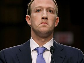 WASHINGTON, DC - APRIL 10: Facebook co-founder, Chairman and CEO Mark Zuckerberg testifies before a combined Senate Judiciary and Commerce committee hearing in the Hart Senate Office Building on Capitol Hill April 10, 2018 in Washington, DC. Zuckerberg, 33, was called to testify after it was reported that 87 million Facebook users had their personal information harvested by Cambridge Analytica, a British political consulting firm linked to the Trump campaign. (Photo by Chip Somodevilla/Getty Ima